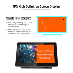 Image 4 - BOSTO 16HD 15.6 Inch IPS Graphics Drawing Tablet Display Monitor 8192 Pressure Level with Rechargeable Stylus Pen 16GB USB Disk