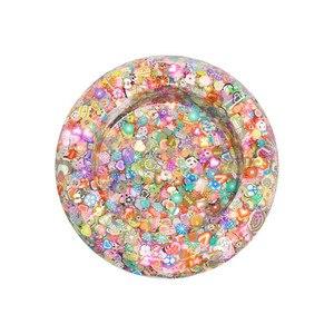 1200 stücke DIY Schleim Weiche Obst Scheiben Fingernagel Liefert Super Licht Ton Zubehör Creme Kleber Material Spielzeug für kinder Geschenk