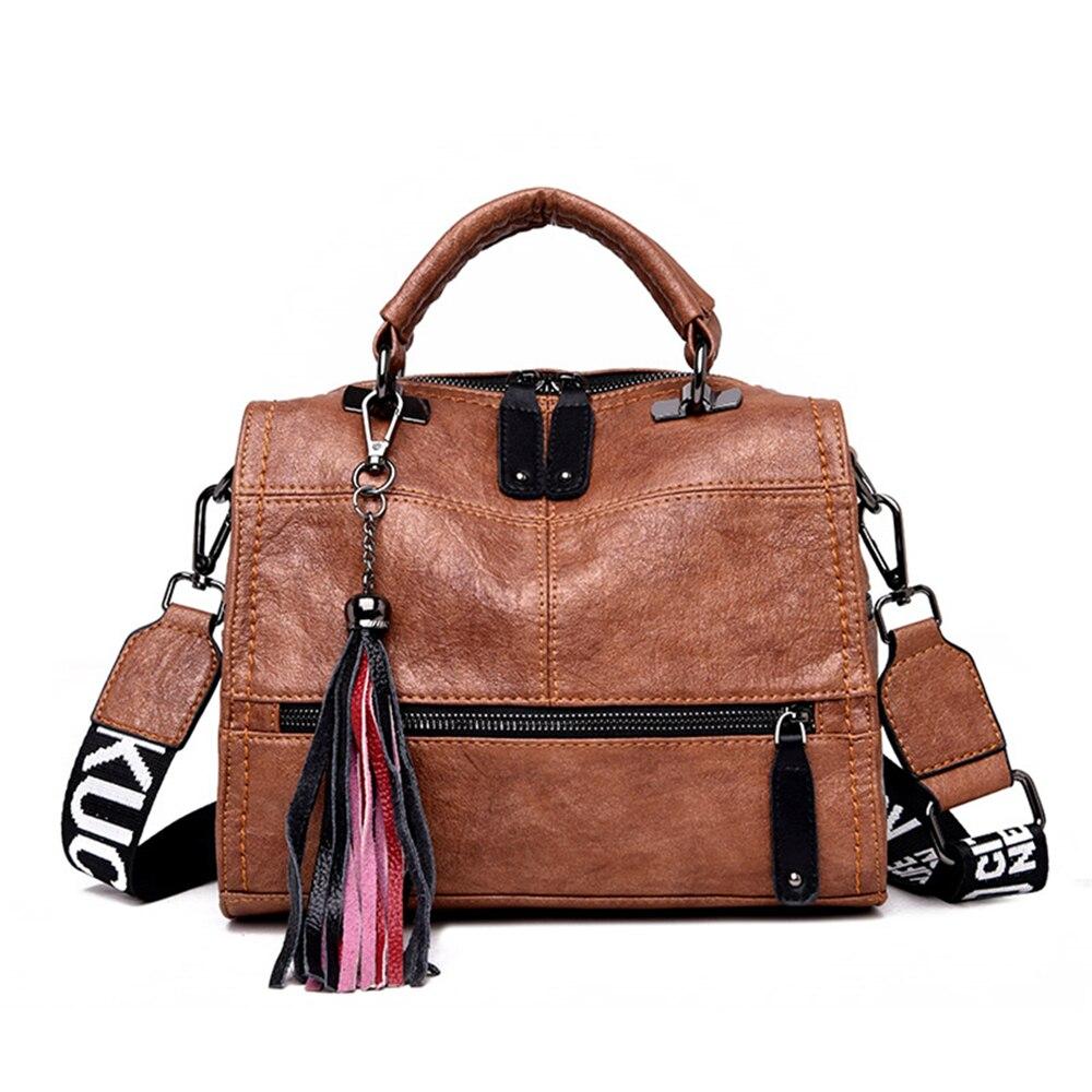 Vintage Handbags For Women 2019 Black Female Leather Handbag High Quality Big Bags Top-handle Bags Casual Tote Sac A Main Femme