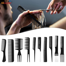 Alileader 10Pcs/Set Anti-Static Hairdressing Combs Tangled Straight Hair Brushes Pro Salon Styling Tool With Free Storage Bag