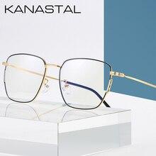KANASTAL Prescription Glasses Men /Women Ultralight Square Myopia Eyeglasses Frame Metal Optical Eyewear K1901