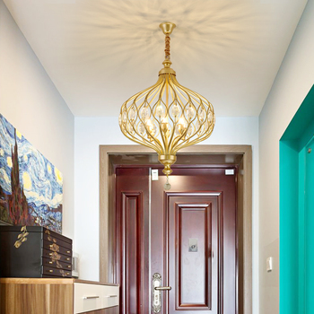 Modern Crystal Chandelier Lighting Deco LED Chandelier Ceiling Suspended Lamps for Kitchen Bedroom Art LED Bulbs Flush Mount E14