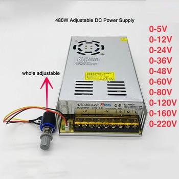 AC110V/220V to 0-5V 12V 24V 36V 48V 60V 80V 120V 160V 220V Adjustable DC Regulated Switching Power Supply Transformer Power Unit