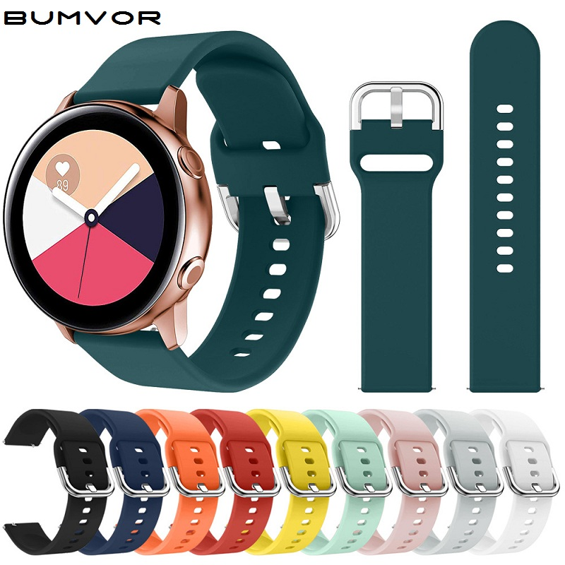 New 22/46mm 20/42mm Rubber For Samsung Gear S3 S2 Sport Frontier Classic Band Huawei Gt Galaxy Smart Watch Replacement Strap