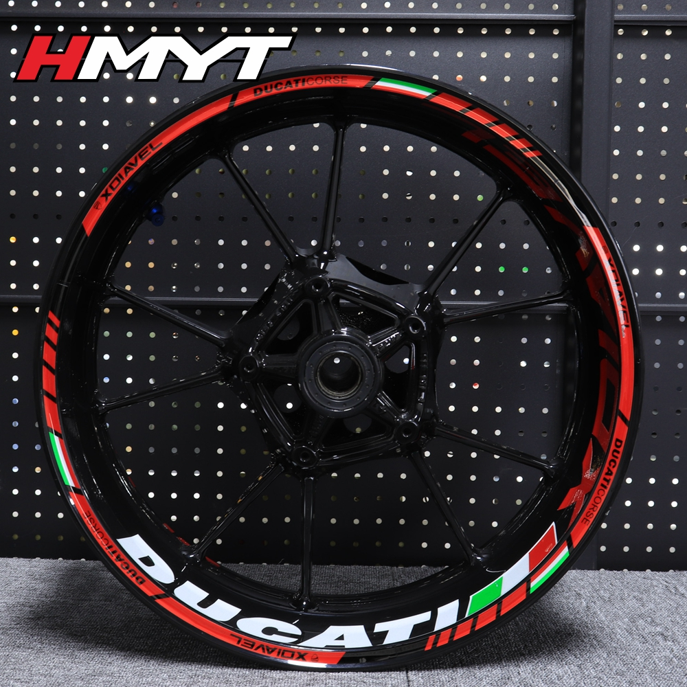 2 Tone Amethyst Motorcycle Rim Wheel Decal Accessory Sticker For Ducati Diavel
