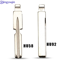 jingyuqin 10P Flip Blade 18# 67# For KD Remote Key NO.67 No.18 HU92 hu58 HU92RTE Uncut Blade For BMW For MG Fob Replacement