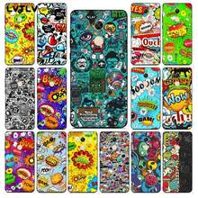 Lvtlv Anime Graffiti Sticker Bomb Zwart Tpu Soft Phone Case Cover Voor Redmi Note 9 4 5 6 7 5a 8 8pro Xiaomi Mi Mix2s Case(China)
