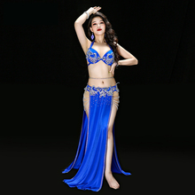 Egyptian Professional belly dance Bra+Skirt+Belt+Underpants Women Oriental Dance Suit Belly Costume THE Deluxe Dress