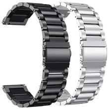 18 мм 20 мм 22 мм металлический ремешок для Garmin Vivoactive 3 4 Смарт-часы браслет из нержавеющей стали для Vivoactive4 4 4S Correa