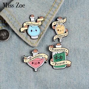 Magic Love Potions Enamel Pins Custom Brooches Lapel Pin Shirt Bag Colorful Badge Jewelry Gift For Lover Girl Friends