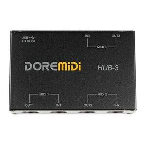 DOREMiDi MIDI 3x3 Box USB MIDI интерфейс MIDI Box MIDI HUB-3
