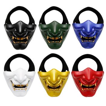 Gorąca sprzedaż bal halloweenowy Laughing Prajna maska taktyczna półmaska do występów na imprezę Halloween wydarzenia wyposażenie taktyczne tanie i dobre opinie eco-friendly