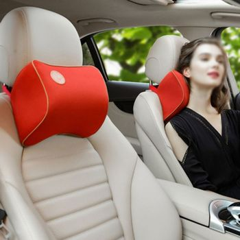 Car Neck Pillow Soft Auto Cervical Office Chair Bolster Headrest Supports Cushion image