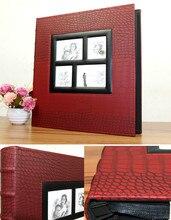 6 インチ 400 枚写真帳結婚式の写真アルバムpuレザーアルバムカバースクラップブック記念ギフト大サイズフォトアルバム