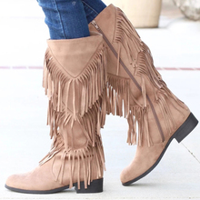Women Boots Women Tassel Mid Calf Boots Fashion Casual Motorcycle Flat  Boot Winter Round Toe Shoes botines mujer 2019 Botas D25 keen utility women s detroit mid boot