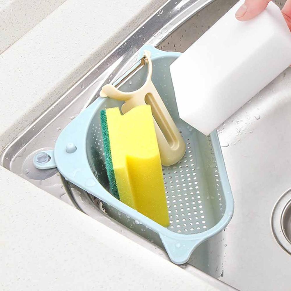 Triangular-Sink-Drain-Shelf-Shelving-Sink-Suction-Sink-Soap-Sponge-Rack-Rag-Holder-Kitchen-Drying-Rack