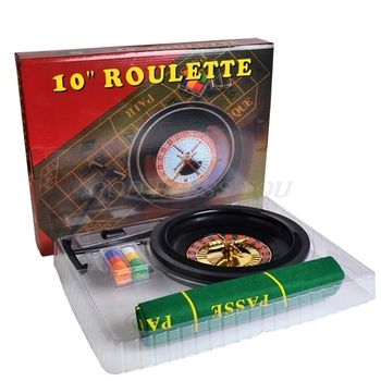 10 inch Roulette Game Set Casino Roulette with Table Cloth Poker Chips for Bar KTV Party Borad Game Drop Shipping
