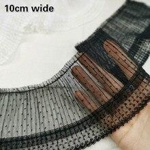 Новый орган плиссированные сетки пряжа кружево поделки г-жа одежда для девочек декольте тело манжеты цельный юбка декоративная ткань Шаль материал