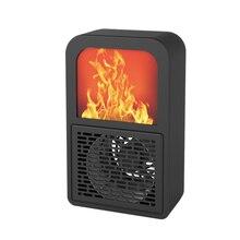 Мини-Электрический нагреватель пламени, подогреватель воздуха, нагревательная плита, радиатор, Бытовой Настенный Удобный вентилятор, штепсельная вилка европейского стандарта