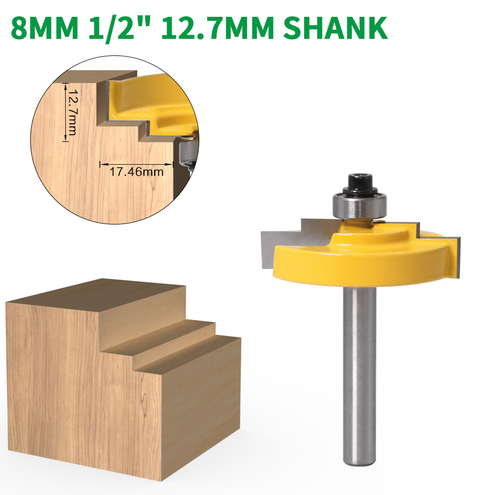 1//2/'/' Shank Router Bit Carbide Tipped Wood Cutting Molding Milling Tools