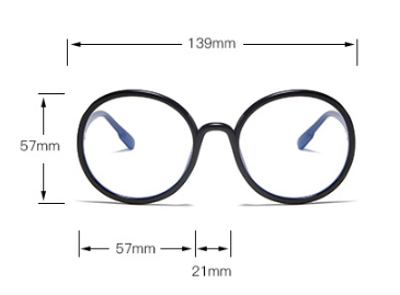 015    Retro Circular Spectacle Frames For Men And Women With Flat Lens Sunglasses