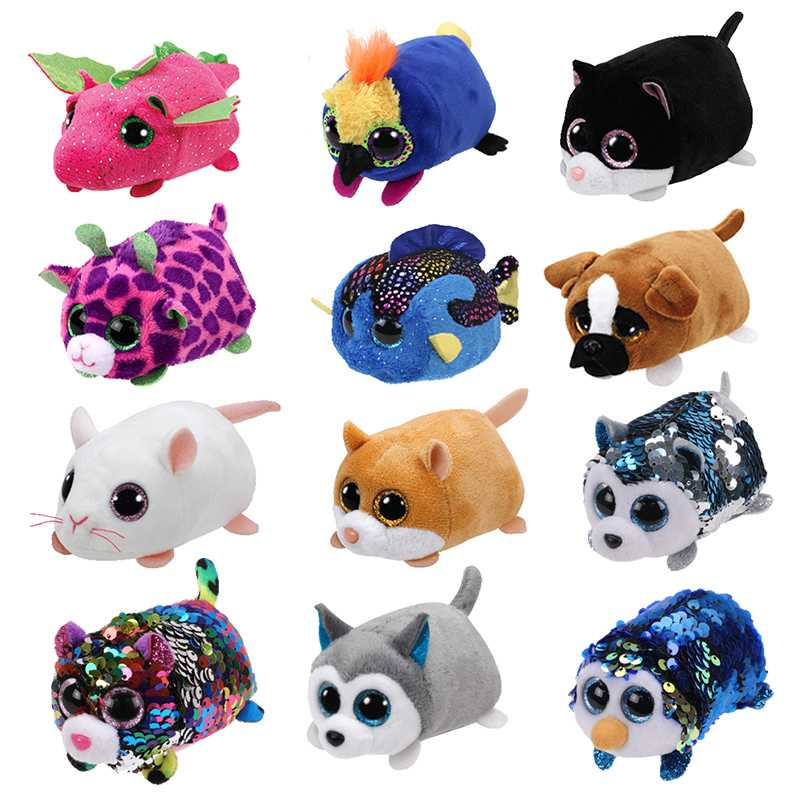 10CM Mini Original Plush Toys Big Eyes Fox Unicorn TSUM Pig Cat Dog Stuffed Doll Pink Owl Baby Kids Gift
