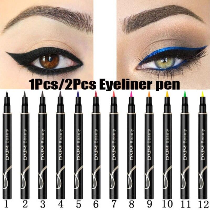 12 Colors Eyeliner Pen Waterproof Matte Eye Cosmetics Eyeliner Long Lasting Sexy Charming Eye Liner Pen Hot 2019 Makeup TSLM2