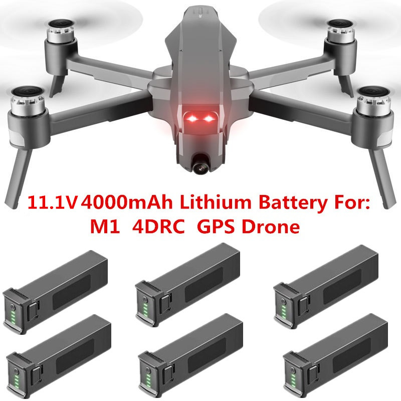 4DRC M1 Drone Original Accessories Parts 11.1V 4000mAh Large Capacity Lithium Battery For 4DRC M1 5G WiFi Quadcopter GPS Drone