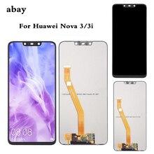 ЖК дисплей с сенсорным экраном для Huawei Nova 3, дисплей с панелью LX1, LX9, Nova 3i, ЖК дисплей INE LX2, L21, Nova 3e, экран ANE LX3, L23, ремонт Nova3