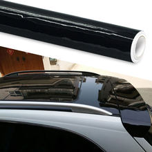 Proteção de pintura 50x152cm alta brilhante preto vinil envolvente filme aparência do carro da motocicleta tablet adesivos universais estilo do carro