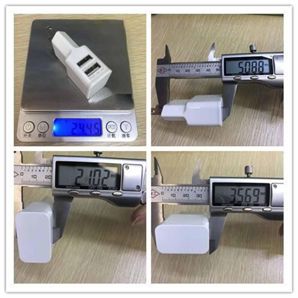 2020 Dual USB Charger 2A Cepat Pengisian Perjalanan Adaptor Steker Uni Eropa Portable Charger Dinding Ponsel Kabel untuk Iphone Samsung xiaomi