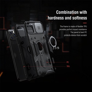 Image 4 - עבור iPhone 11 Pro Max פרו מקסימום מקרה NILLKIN CamShield שריון מקרה שקופיות מצלמה להגן על פרטיות טבעת kickstand חזור כיסוי עבור iPhone11 Pro פרו