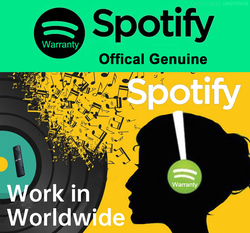 Spotify Lifetime Warranty Official Offline Listening Music Player Global Available for Iphone Ios Android Phone PC TV Stick