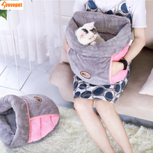 cat dog pet bed Nest Winter Warm Slippers Style cave for small medium dogs cats Soft cozy kitten puppy Pets Cushion