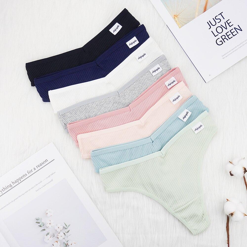 3 Pcs Lots Underwear Women Lingerie Feminina Pack of Panties Sexy G String Thongs for Lady Cotten Panties Wholesale Girls Briefs