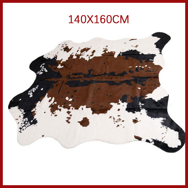 Sholisa Cowhide Cow Hide Rug Carpets For Living Room Bedroom Rug Polyester  For Home Decorative Hand WashMorden Cow Skin