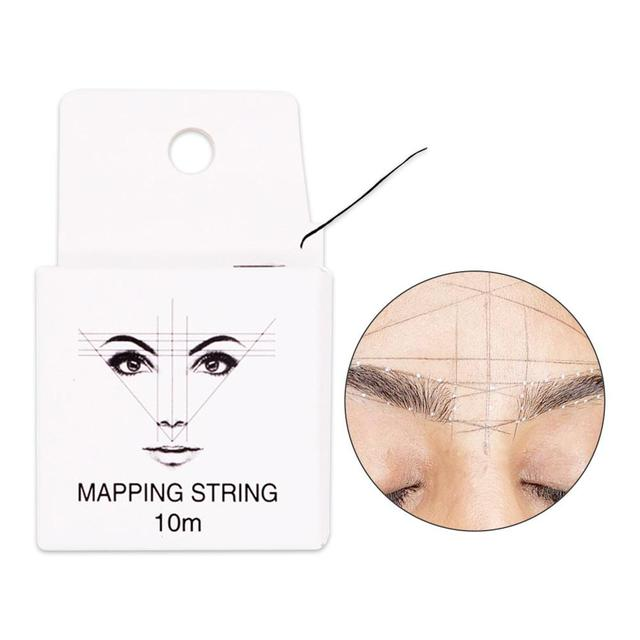 Eyebrow Measuring Tool Mapping Pre-ink String For Microblading Eyebow Make Up Dyeing Liners Thread Semi Permanent Positioning 1