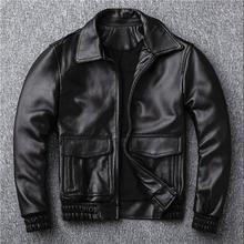 2020 Sales New Casual Man Warm Genuine Leather Coat Quality Sheepskin Jackets Mo