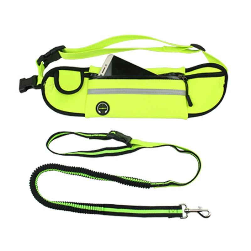 Pet Sports Waist Pack Hand Holding Rope Nylon Pet Supplies Nursing Dog Retractable Elastic Running Hand Holding Rope