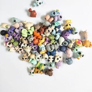 Image 5 - Figurines danimaux domestiques, jouet daction de marché, 50 pièces/sac 1 à 2cm, jouet chat mignon, cheval, lapin, enfant