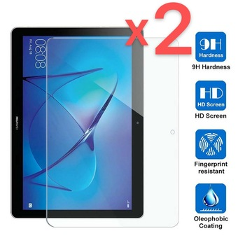 2Pcs Tablet Tempered Glass Screen Protector Cover For Huawei MediaPad T3 10 9.6 Inch Full Coverage Screen 1