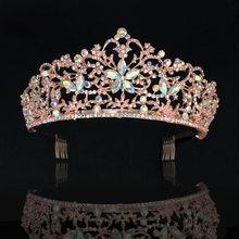 KMVEXO-diademas de lujo con cristales AB para mujer, diadema de oro rosa, accesorios para el cabello de boda, 2019