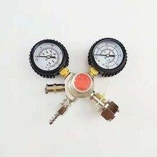 High pressure double gauge CO2 regulator