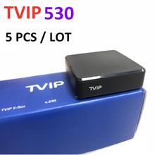 Prosto z fabryki Tvip 530 Linux 4K Tv pudełko 5 sztuk dużo V530 Tvip530 dekoder tanie tanio 100 M CN (pochodzenie) Amlogic S905W Quad-core 64-bit 8 GB eMMC HDMI 2 0 1G DDR3 Wliczone w cenę