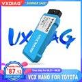 Автомобильный диагностический сканер VXDIAG Mini VCI J2534, диагностический инструмент для Toyota it3 TIS V15, Wi-Fi, VCX NANO для Lexus OBD2, автомобильные инструменты
