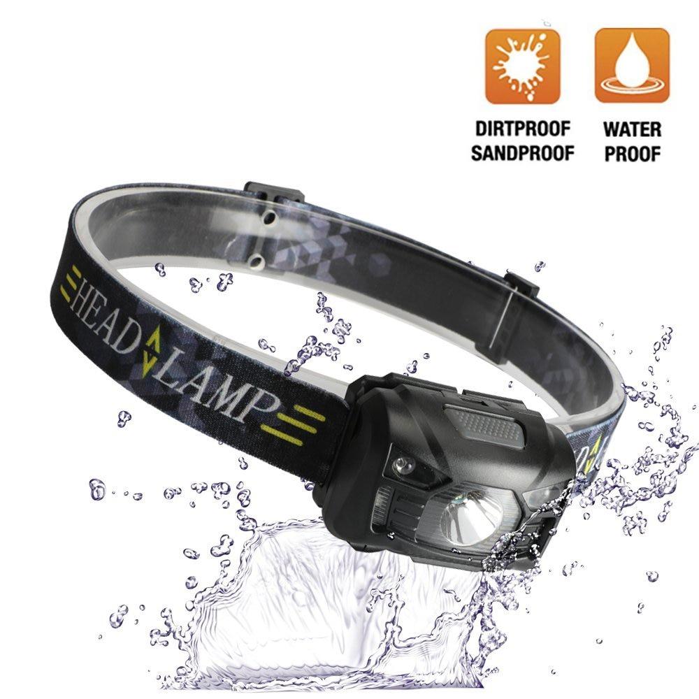 Portable LED Headlamp USB Rechargeable Head Lamp Body Motion Sensor Led Headlight Outdoor Camping Head Torch Led Head Flashlight