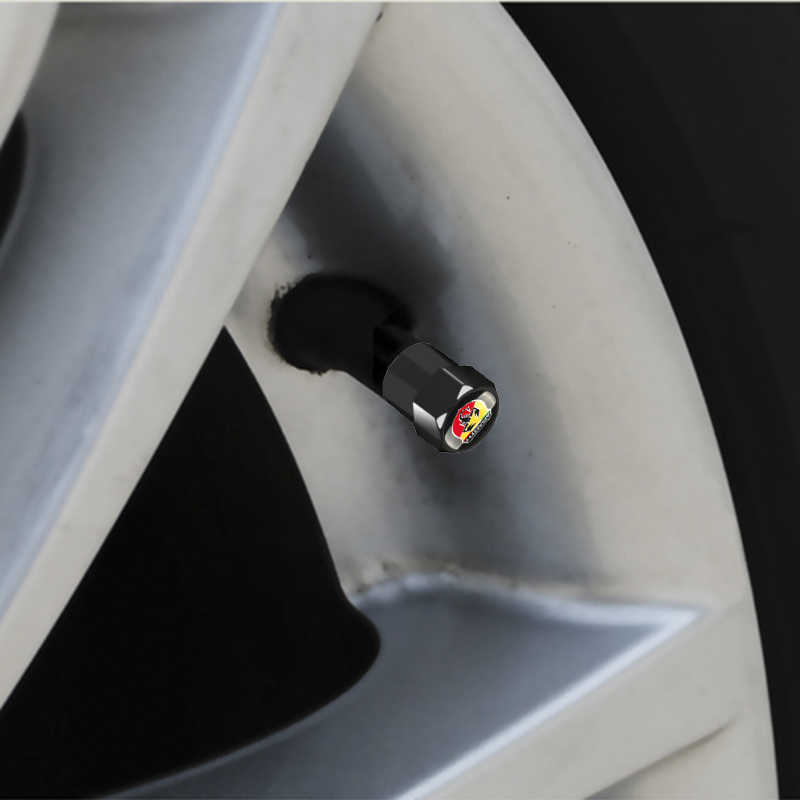 車のスタイリング 4 個フィアットabarthサソリバッジアルミ車のタイヤバルブキャップviaggio abarth punto 124 125 500 カーアクセサリー