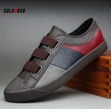 2020 Trend Men Leather Shoes Slip-on Casual Comfortable Loafers Mens Flats Driving Moccasins