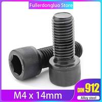 M4x14 100Pcs Grade 12.9 Alloy Steel Blackening Hex Socket Head Cap Screw ( bolt m4 14mm screw m4 14 mm )