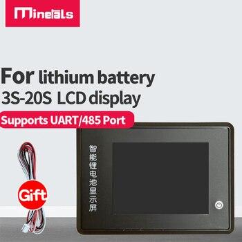 Monitor LCD sólo para BMS JBD soporta UART 485 comunicación de puerto serie 3s-20s 4s 8s 10s 13s 14s 16s LCD 1